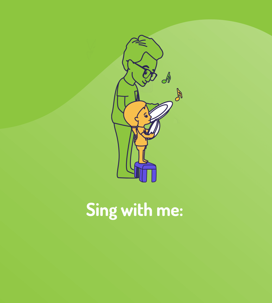 image of father and child singing