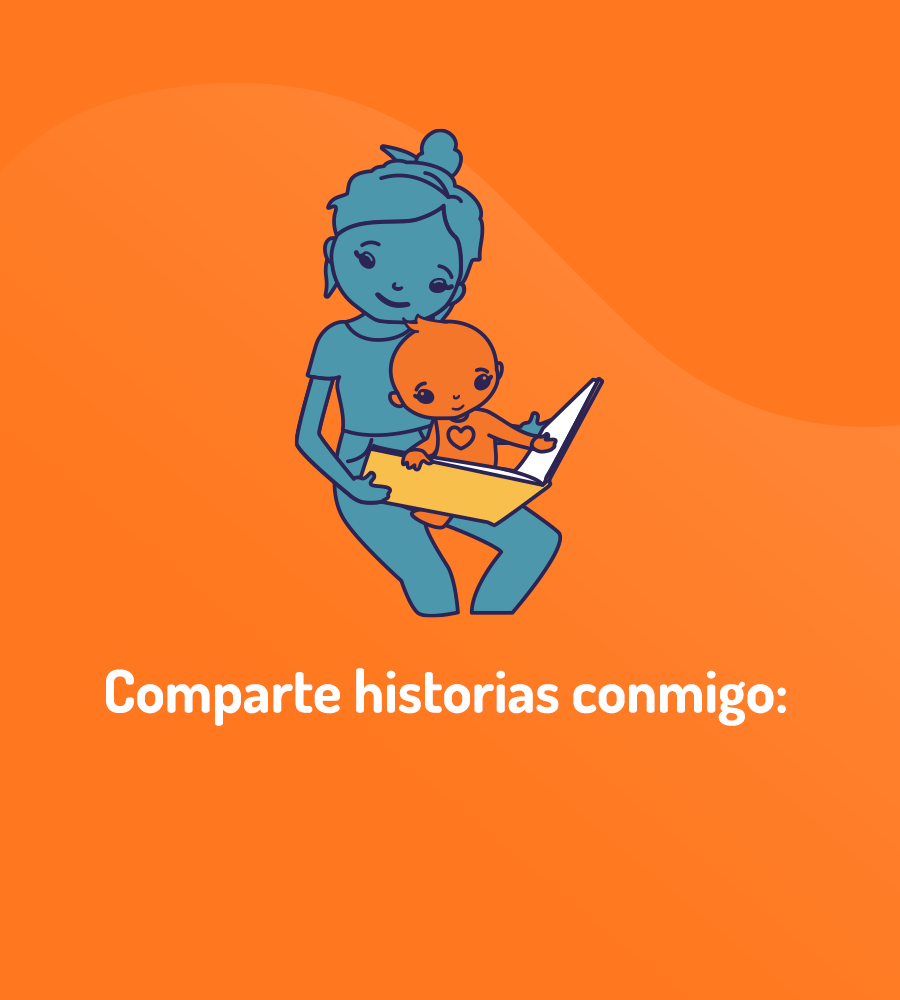 drawing of mother reading to baby, exhibiting moments together